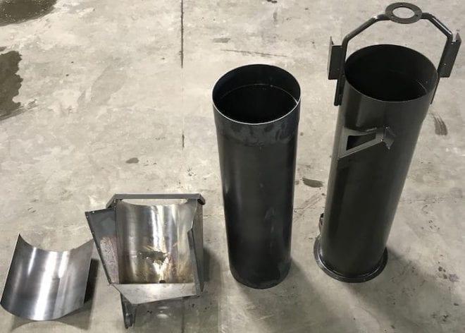 Bubble Up Auger liner kit on a concrete floor